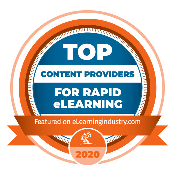 Top Content Providers for Rapid eLearning Badge