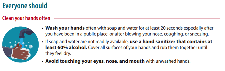 Excerpt from CDC Guidance