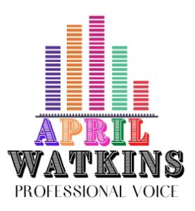 April Watkins Voiceover & Vocals ~Voices by April logo