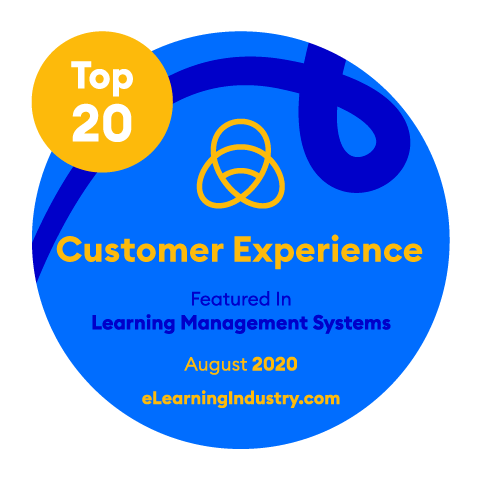 The Best Learning Management Systems based on Customer Experience 2020 Badge