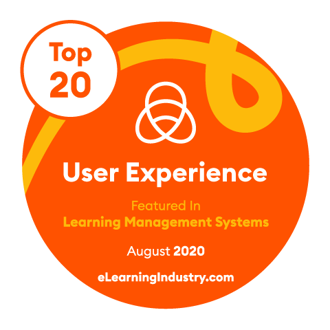 The Best Learning Management Systems based on User Experience 2020 Badge