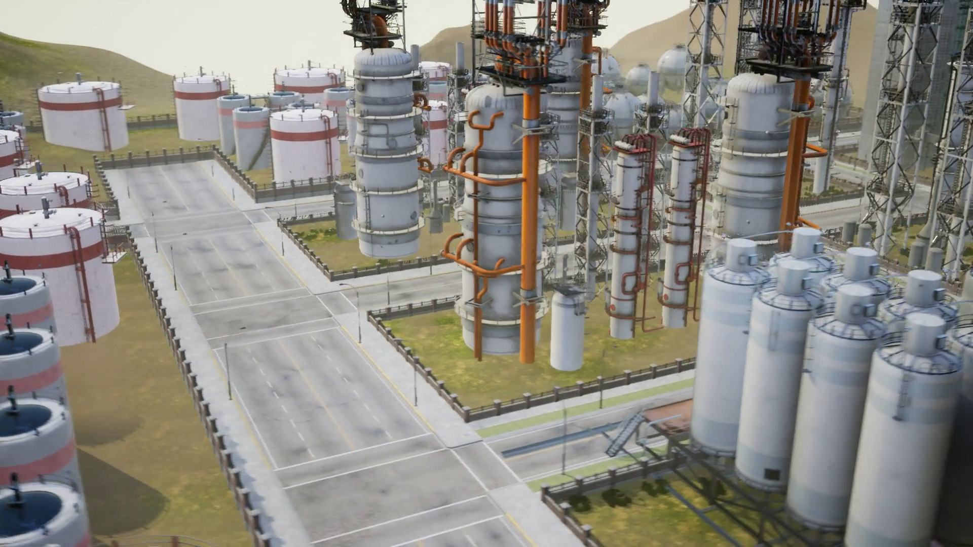 A virtual tour of an oil refinery.