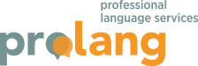 Prolang - professional language services logo