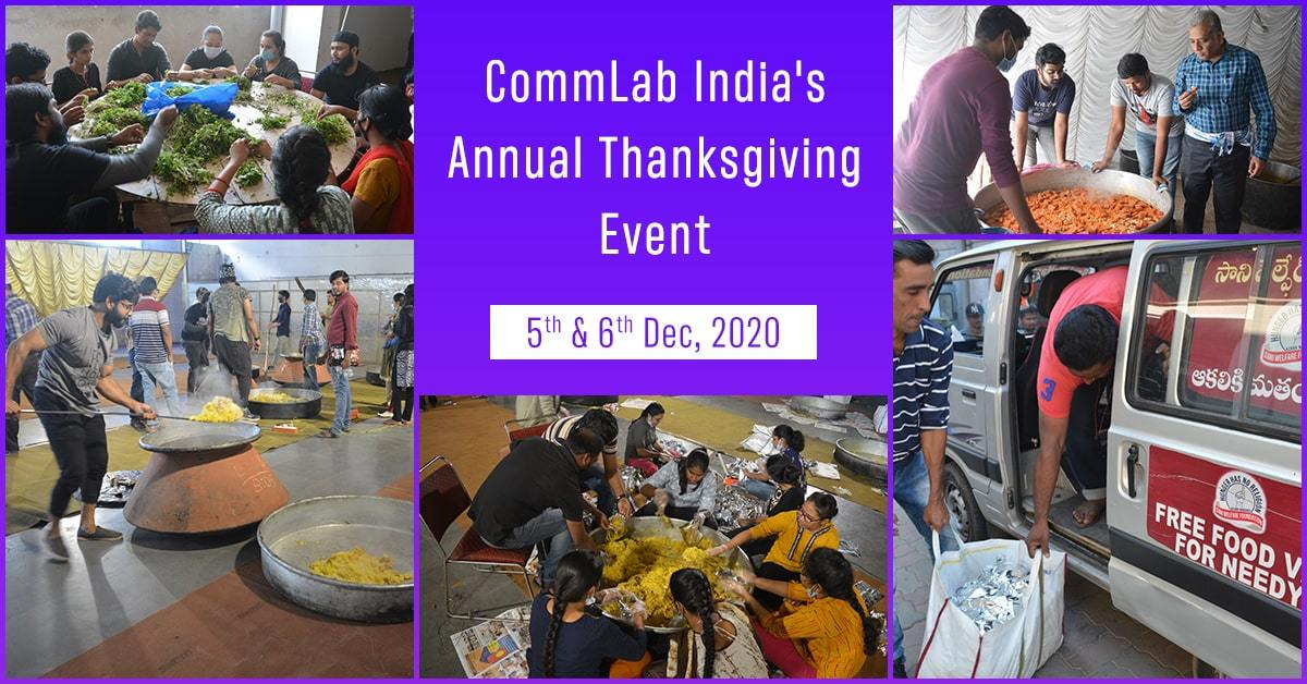 CommLab India's Thanksgiving Event