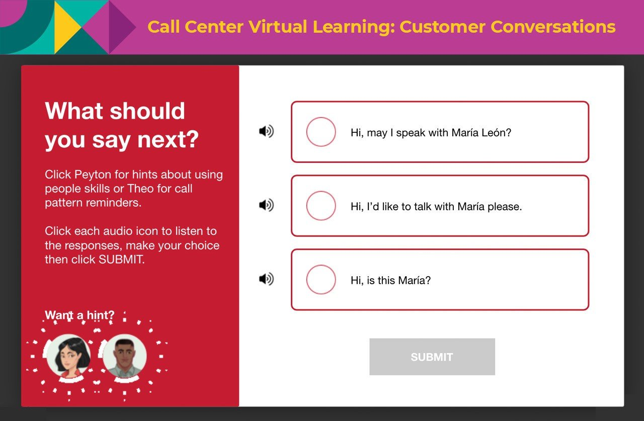 call center virtual learning