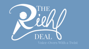The Riehl Deal-Voice Overs with a Twist logo