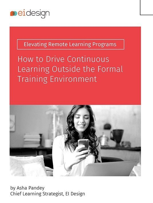 How To Drive Continuous Learning Outside The Formal Training Environment